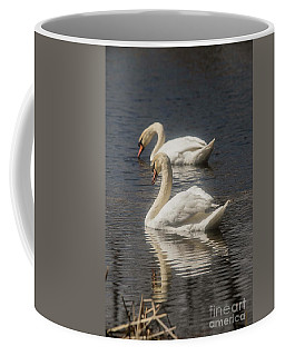 Coffee Mug featuring the photograph Mute Swans by David Bearden