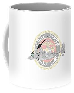 Coffee Mug featuring the digital art Mv-22bvmm-261 by Arthur Eggers