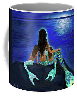 Coffee Mug featuring the painting My Adorable Girls by Leslie Allen