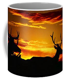 Elk Sunset Coffee Mug