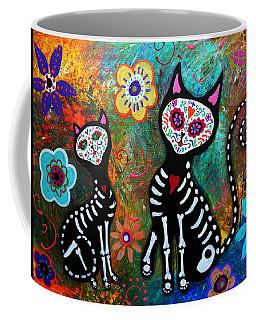 My Cats Dia De  Los Muertos Coffee Mug