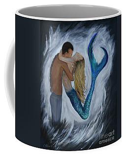 Coffee Mug featuring the painting My Dream Mermaid by Leslie Allen