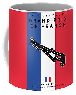 My F1 France Race Track Minimal Poster Coffee Mug