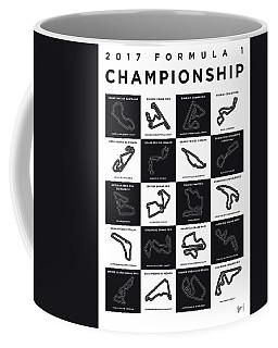 My F1 Season 2017 Race Track Minimal Poster Coffee Mug