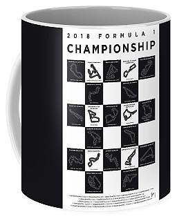 My F1 Season 2018 Race Track Minimal Poster Coffee Mug