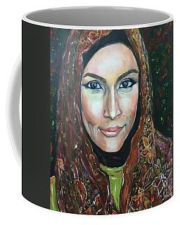 Coffee Mug featuring the painting My Fair Lady II - Come Home - Geylang Si Paku Geylang by Belinda Low