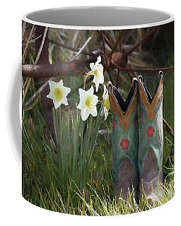Coffee Mug featuring the photograph My Favorite Boots by Benanne Stiens