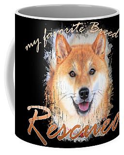My Favorite Breed Is Rescued Watercolor 4 Coffee Mug