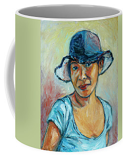 My First Self-portrait Coffee Mug by Xueling Zou