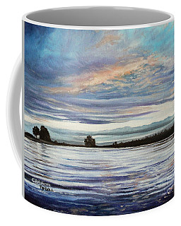 Coffee Mug featuring the painting My First Sunset by Elizabeth Robinette Tyndall