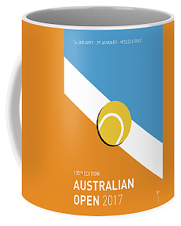 Coffee Mug featuring the digital art My Grand Slam 01 Australian Open 2017 Minimal Poster by Chungkong Art