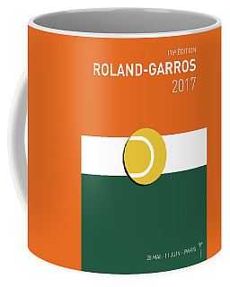 Coffee Mug featuring the digital art My Grand Slam 02 Rolandgarros 2017 Minimal Poster by Chungkong Art