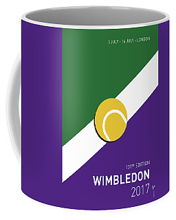 Coffee Mug featuring the digital art My Grand Slam 03 Wimbeldon Open 2017 Minimal Poster by Chungkong Art