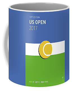 Coffee Mug featuring the digital art My Grand Slam 04 Us Open 2017 Minimal Poster by Chungkong Art