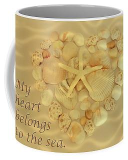 Coffee Mug featuring the photograph My Heart Belongs To The Sea by Angie Tirado