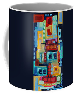 Coffee Mug featuring the painting My Jazz N Blues 3 by Holly Carmichael