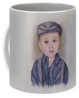 Coffee Mug featuring the painting My Little Dapper by Kelly Mills