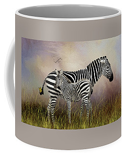 Coffee Mug featuring the photograph My Mom Has A Butterfly On Her Tail by Diane Schuster