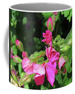 My Pink Geraniums - Floral Art From The Garden Coffee Mug by Brooks Garten Hauschild