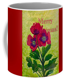 My Poppy Love At Christmastime Coffee Mug by Kimberlee Baxter