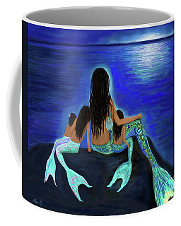 Coffee Mug featuring the painting My Precious Bunch by Leslie Allen