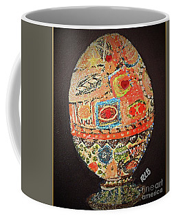 Coffee Mug featuring the painting My Precious Valentine Egg by Rita Brown