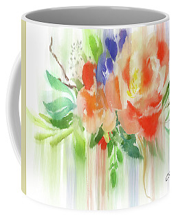Coffee Mug featuring the painting My Roses Gently Weep by Colleen Taylor