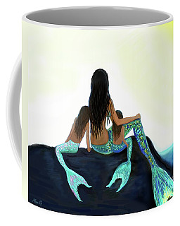 Coffee Mug featuring the painting My Sunshine Girls by Leslie Allen