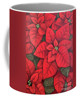My Very Red Poinsettia Coffee Mug by Inese Poga