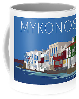Mykonos Little Venice - Blue Coffee Mug
