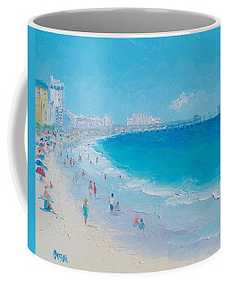 Myrtle Beach And Springmaid Pier Coffee Mug by Jan Matson