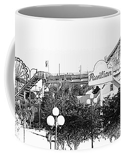 Myrtle Beach Pavillion Amusement Park Monotone Coffee Mug