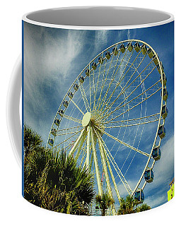Coffee Mug featuring the photograph Myrtle Beach Skywheel by Bill Barber