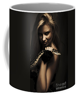 Mysterious Dark Sorceress Coffee Mug