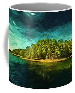 Mysterious Isle Coffee Mug by Dennis Baswell