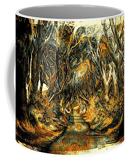 Coffee Mug featuring the mixed media Mysterious Place by Lilia D