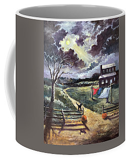 Mystery Of The October Moon Coffee Mug by Randy Burns
