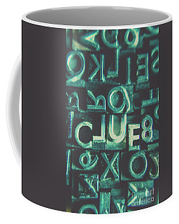 Coffee Mug featuring the photograph Mystery Writer Clue by Jorgo Photography - Wall Art Gallery
