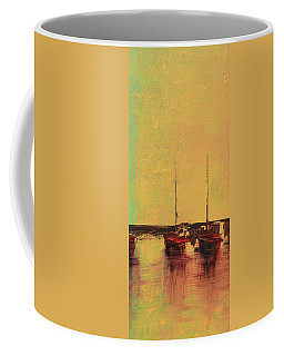 Mystic Bay Triptych 2 Of 3 Coffee Mug