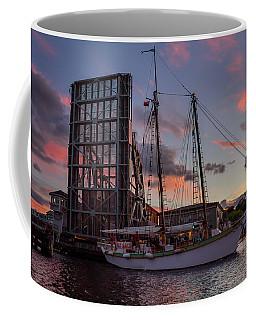 Mystic Drawbridge Sunset Cruse Coffee Mug