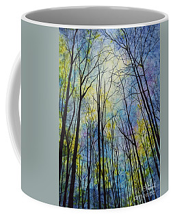 Coffee Mug featuring the painting Mystic Forest by Hailey E Herrera