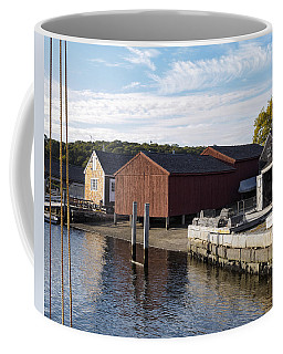 Mystic River At The Seaport Mystic Ct Coffee Mug