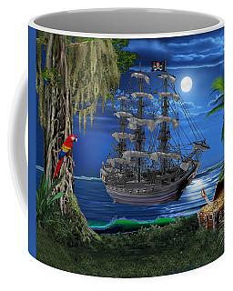 Mystical Moonlit Pirate Ship Coffee Mug