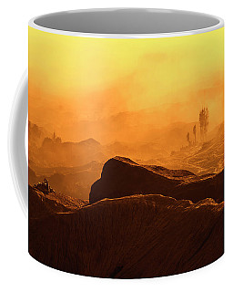Coffee Mug featuring the photograph mystical view from Mt bromo by Pradeep Raja Prints