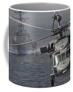 N Mh-60s Knight Hawk Delivers Supplies Coffee Mug