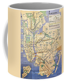 N Y C Subway Map Coffee Mug