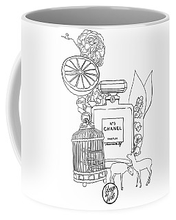 Coffee Mug featuring the digital art N0.5 by ReInVintaged