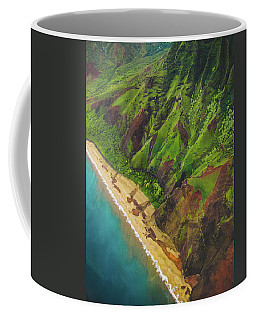 Na Pali Coast Aerial Coffee Mug