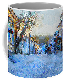 Naantali Old Town In Winter Coffee Mug by Kai Saarto
