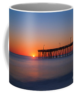 Nags Head Fishing Pier Sunrise Coffee Mug